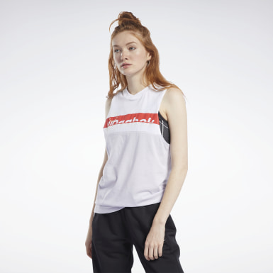 Women Dance Pink Meet You There Reebok Graphic Tank Top