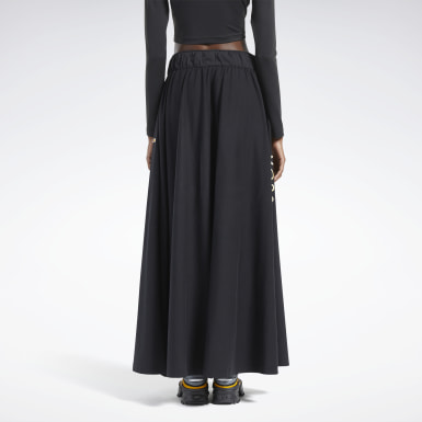 Women Classics Black Reebok by Pyer Moss Long Skirt