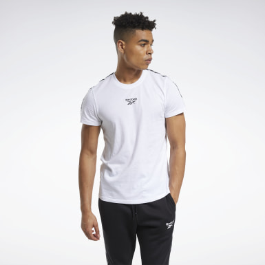 Men Fitness & Training White Training Essentials Tape Tee