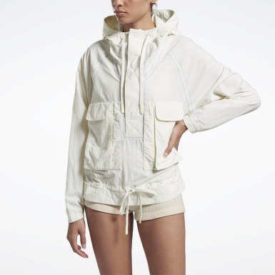 Women Fitness & Training White VB Blouson