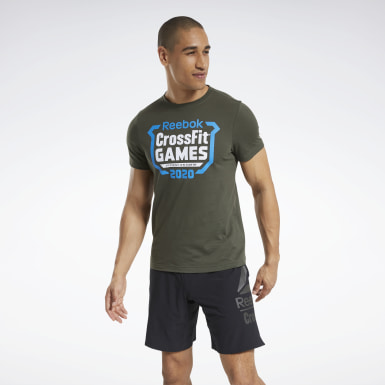Men Cross Training Green Reebok CrossFit® Games Crest Tee