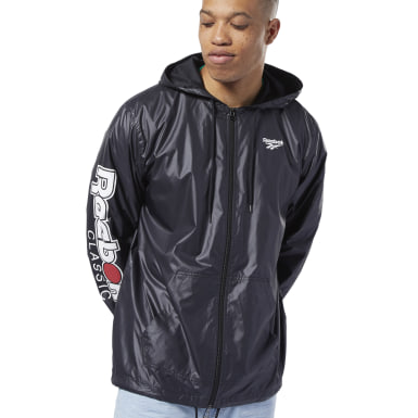 Classics Black Classics International Red Button Windbreaker