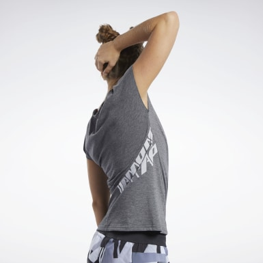 Dames Crosstraining Zwart Reebok CrossFit® ACTIVCHILL+COTTON T-shirt
