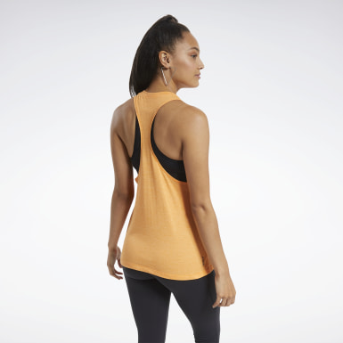 Women Fitness & Training Orange ACTIVCHILL+COTTON Graphic Tank Top