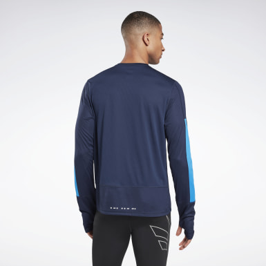 Men Terrengløping Blue Running Essentials Long Sleeve Shirt