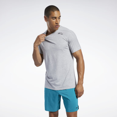 Heren Yoga Grijs Speedwick Move T-shirt