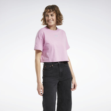 Camiseta cropped Mujer Classics