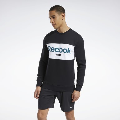 Felpa Training Essentials Linear Logo Nero Uomo Fitness & Training