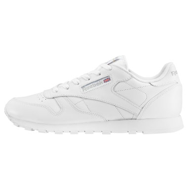 Boys Classics White Classic Leather Shoes - Grade School