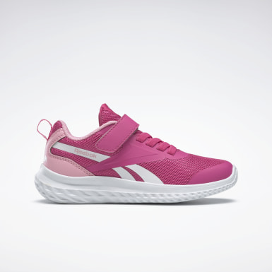 Girls Running Pink Reebok Rush Runner 3 Alt Shoes - Preschool