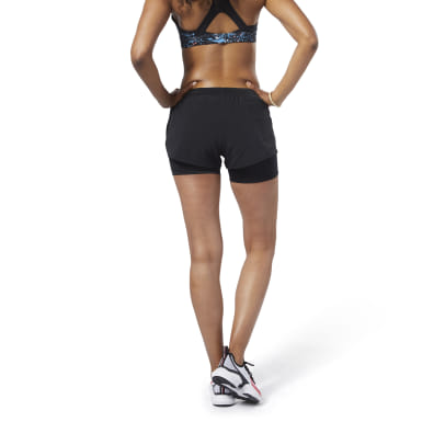 Shorts 2 en 1 One Series Running Epic Negro Mujer Running