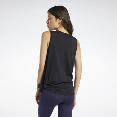 Women Training Black Burnout Tank Top