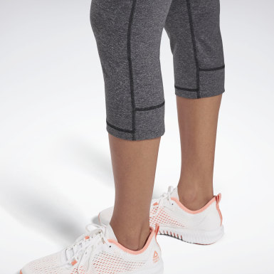 Tight Reebok Lux 3/4 Grigio Donna Trail Running