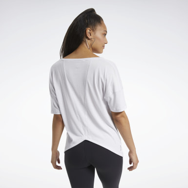 Dames Yoga Wit ACTIVCHILL+COTTON T-shirt