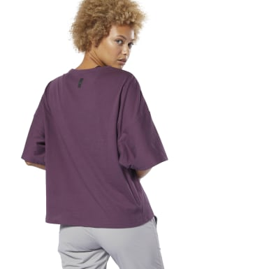 Women Fitness & Training Purple Training Supply Pocket Tee
