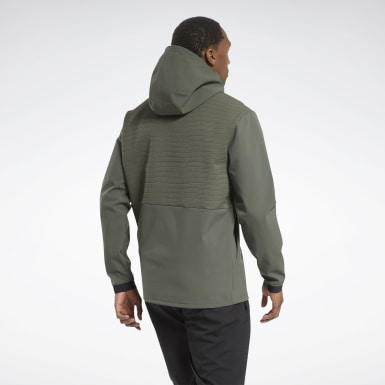 Men Hiking Green Thermowarm Deltapeak Full-Zip Control Hoodie