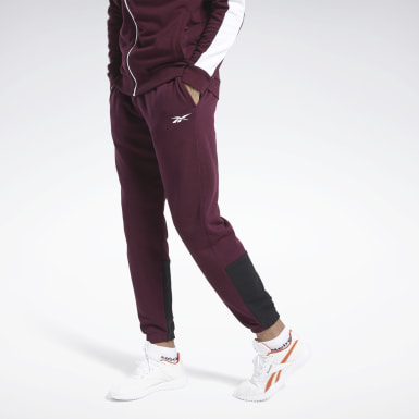 Men Fitness & Training Burgundy Training Essentials Linear Logo Joggers