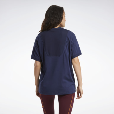 Women Training Blue MYT Stitch Oversize Tee