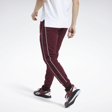 Men Training Burgundy Workout Ready Pants