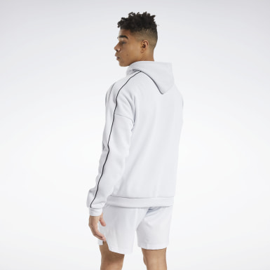 Men Training White Workout Ready Full-Zip Hoodie