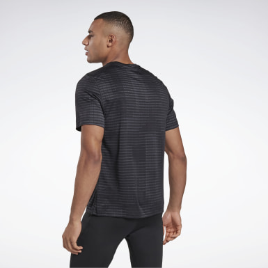 Men Trail Running Black Run Jacquard Tee