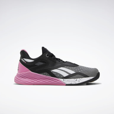 Girls Cross Training Black Reebok Nano X Shoes