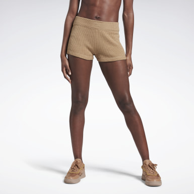 Women Fitness & Training Beige VB Knitted Bottoms