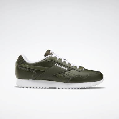 Men Classics Green Reebok Royal Glide Ripple Shoes