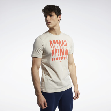 T-shirt Graphic Series Reebok 1895 Crew Beige Uomo Fitness & Training
