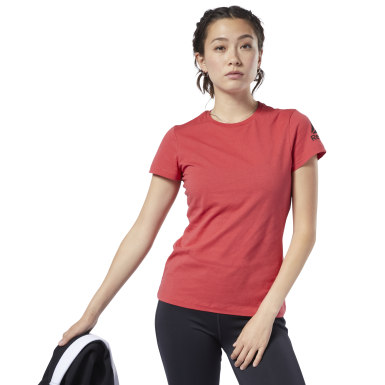 Polo Workout Ready Rojo Mujer Running