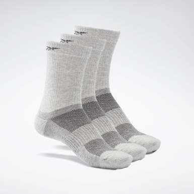 Cross Training Grey Active Foundation Mid-Crew Socks 3 Pairs