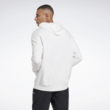 Men Fitness & Training White Training Essentials Linear Logo Hoodie
