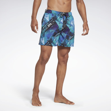 Men Swimming Blue Reebok Tanner Swim Shorts