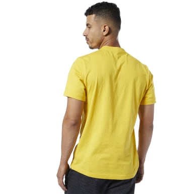 Remera Reebok Linear Read Amarillo Hombre Fitness & Training