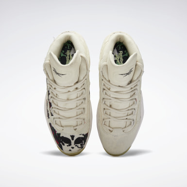 Men Classics White Question Mid Boktober Men's Basketball Shoes