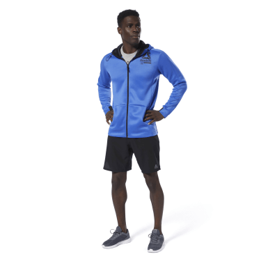 синий Худи Training Spacer Full-Zip