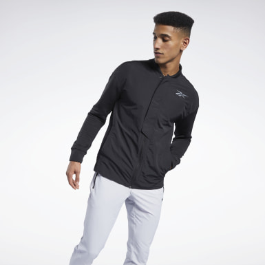 Men Fitness & Training Black Speedwick Layering Track Jacket