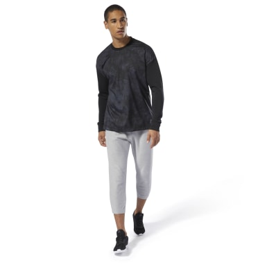 Training Essentials Knit-Woven Crew Sweatshirt