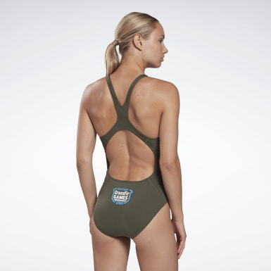 Costume da bagno intero CrossFit® Games Verde Donna Cross Training