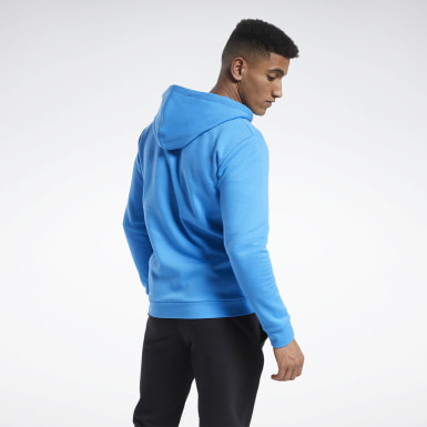 Men Fitness & Training Blue Training Essentials Fleece Zip Up Hoodie