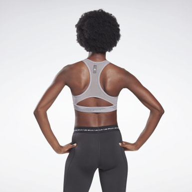 Women Studio Grey LES MILLS® Lux Medium-Impact Racer Bra