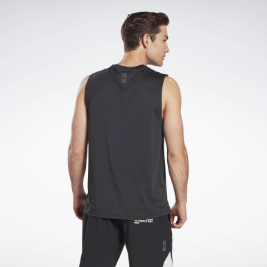 Men Studio Black LES MILLS® SmartVent Sleeveless T-Shirt