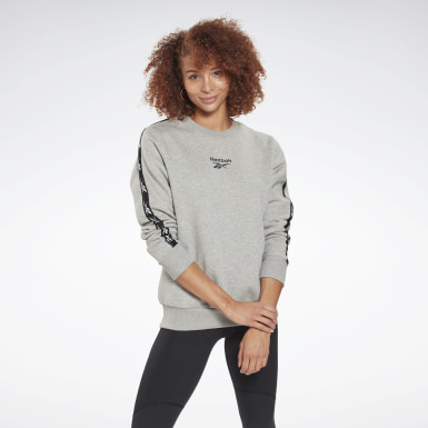 Women Fitness & Training Grey Training Essentials Crew Sweatshirt