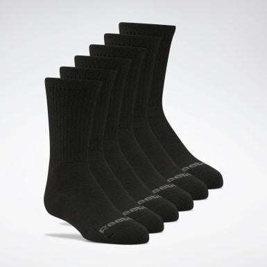 Kids Training Black Crew Socks 6 Pairs