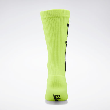 Women Classics Yellow VB Nylon Socks