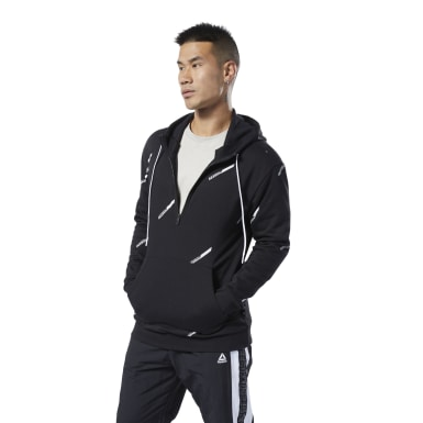 Männer Fitness & Training Meet You There Fleece Hoodie Schwarz