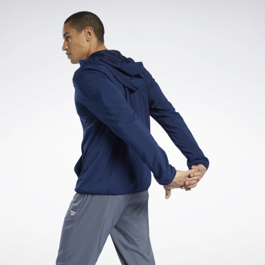 Men Training Blue Training Essentials Jacket