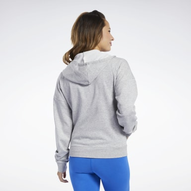 Bluza z kapturem Training Essentials Full-Zip Szary