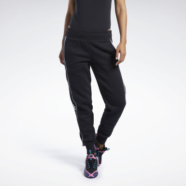 Women Classics Black Classics Linear Fleece Pants