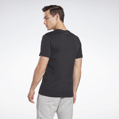 GB M SS COTTON T VCTR Nero Uomo Fitness & Training